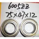 (10pcs) 6005-2Z ZZ Deep Groove Ball Bearing ABEC1 25x47x12 mm 25*47*12 6005Z 6005ZZ  free shipping