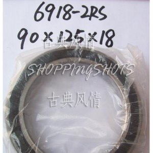 10pcs thin 6918-2RS RS bearings Ball Bearing 6918RS 90X125X18 mm 90*125*18 6918RS  free shipping