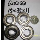 (50pcs) 6202-2Z ZZ Deep Groove Ball Bearing ABEC1 15x35x11 6202Z 15*35*11 mm 6202ZZ  free shipping