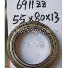 10 pcs 6911-2Z ZZ bearings Ball Bearing 6911ZZ 55X80X13 mm 55*80*13 6911Z ABEC1  free shipping