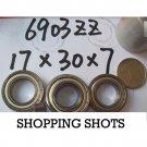 1 pcs 6903-2Z ZZ bearings Ball Bearing 6903ZZ 17X30X7 mm 17*30*7 6903Z 6903ZZ  free shipping
