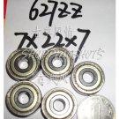 (100pcs) 627-ZZ 2Z bearings Deep Groove Ball Bearing 7X22X7 mm 7*22*7 627Z 627ZZ  free shipping