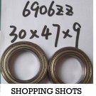 1pc thin 6906-2Z ZZ bearings Ball Bearing 6906ZZ 30X47X9 mm 30*47*9 6906Z 6906ZZ  free shipping