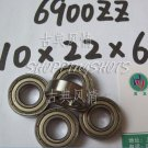 100pcs thin 6900-2Z ZZ bearings Ball Bearing 6900ZZ 10X22X6 10*22*6 6900Z 6900ZZ  free shipping