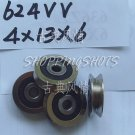 (5pcs) 4mm V Groove Sealed Ball Bearings 0.157 inch vgroove bearing 624VV 4*13*6  free shipping