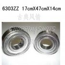 1pcs 6303-2Z ZZ Deep Groove Ball Bearing ABEC1 17x47x14 17*47*14 mm 6303ZZ 2Z  free shipping