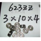 10pcs 623-2Z 623 ZZ Deep Groove Ball Bearing Quality 3x10x4 3*10*4 mm ABEC1 2Z Z  free shipping
