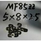 10pcs) MF85 5X8X2.5 Flanged 5*8*2.5 mm bearings Miniature Ball Radial Bearing MF85ZZ  free shipping