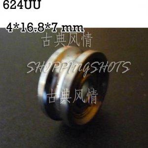 1pcs 4mm U Groove steel roller bearings 0.157 inch ugroove 4*16.8*7 mm bearing  free shipping