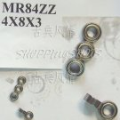 10pcs  MR84 MR84Z Miniature Bearings ball Mini bearing 4X8X3 mm 4*8*3 MR84zz ZZ 2Z  free shipping