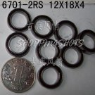 10pcs thin 6701-2RS RS bearings Ball Bearing 6701RS 12*18*4 12X18X4 mm 6701 2RS  free shipping
