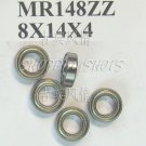 100pcs) MR148 MR148ZZ Miniature Bearings ball Mini bearing 8X14X4 8*14*4 MR148Z ZZ  free shipping