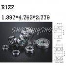 10pcs R1Z R1ZZ 1.397 x 4.762 x 2.779 mm Miniature bearing Radial Ball Bearings  free shipping