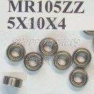 (100pcs) MR105 MR105Z Miniature Bearings ball Mini bearing 5X10X4 mm 5*10*4 MR105z  free shipping