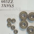 100pc 603 2Z ZZ Miniature Bearings ball Mini bearing 3x9x5 3*9*5 mm 603ZZ ABCE1  free shipping