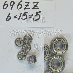 1 pcs 696 696Z ZZ Miniature Bearings ball Mini bearing 6X15X5 6*15*5 mm 696ZZ 2Z  free shipping