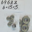 100 pcs 696 696Z ZZ Miniature Bearings ball Mini bearing 6X15X5 6*15*5 mm 696ZZ 2Z  free shipping