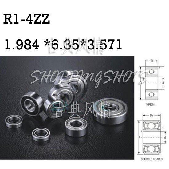 "1pcs R1-4ZZ 5/64""x 1/4""x 3/32"" R1-4Z inch Miniature bearing Radial Ball Bearings  free shipping"