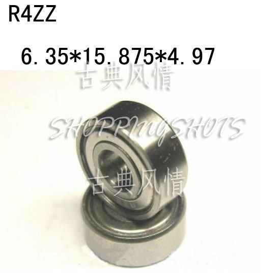 "50pcs R4 ZZ 1/4"" x 5/8"" x 0.196 inch Bearing Miniature Ball Radial Bearings R4ZZ  free shipping"