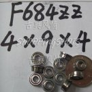 10pcs F684ZZ 4x9x4 Flanged 4*9*4 mm F684Z Miniature Ball Radial Bearing F684 ZZ 2Z  free shipping