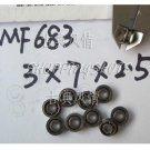 1 pcs MF683 3X7X2.5 Flanged 3*7*2.5 mm bearings Miniature Radial Bearing MF683ZZ  free shipping