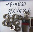 10 pcs MF148 8X14X4 Flanged 8*14*4 bearings Miniature Ball Radial Bearing MF148ZZ free shipping
