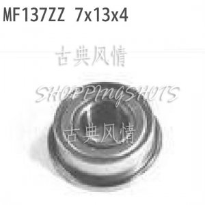 10 pcs MF137 7X13X4 Flanged 7*13*4 bearings Miniature Ball Radial Bearing MF137ZZ free shipping