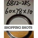 1 pc thin 6812-2RS RS bearings Ball Bearing 6812RS 60X78X10 60*78*10 mm ABEC1 free shipping