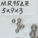 (1) MR95 MR95Z Miniature Bearings ball Mini bearing 5X9X3 mm 5*9*3 MR95zz ZZ 2Z free shipping
