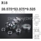 "1pcs R18 open 1 1/8""x 2 1/8"" x 1/2"" inch Bearing Miniature Ball Radial Bearings free shipping"