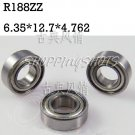 "10pcs R188 ZZ 1/4""x 1/2""x 3/16"" inch Miniature Ball Radial Ball Bearings R188ZZ   free shipping"