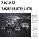 10pcs R1010 ZZ 7.938*15.875*4.978 mm Miniature Ball Radial Ball Bearings R1010ZZ   free shipping