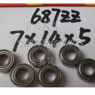 (10pcs) 687 ZZ Miniature Bearings ball Mini bearing 7x14x5 mm 7*14*5 687ZZ 687Z 2Z free shipping