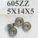 10pc 605 2Z ZZ Miniature Bearings ball Mini bearing 5x14x5 5*14*5 605ZZ ABCE1 free shipping