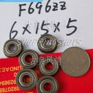 1pc F696ZZ 6x15x5 Flanged 6*15*5 mm F696Z Miniature bearings Bearing F696 ZZ 2Z free shipping