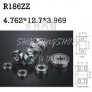 "1pcs R186 open 3/16""x 1/2""x 1.094"" inch Miniature Ball Radial Ball Bearings free shipping"