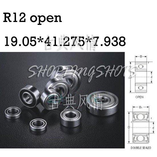 """10pcs R12 open 3/4"""" x 1 5/8"""" x 5/16"""" inch Bearing Miniature Ball Radial Bearing free shipping"""