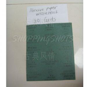 "free shipping 10pcs SANDPAPER 80 grit electro coated Aluminium oxide sand paper Wet/Dry 9""X11"""
