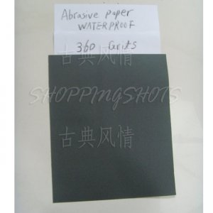 "free shipping 10pcs SANDPAPER 360 grit electro coated Aluminium oxide sand paper Wet/Dry 9""X11"""