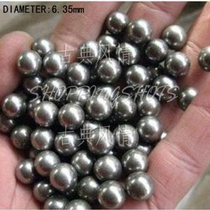 "free shipping  100 pcs Dia/Diameter 100x 1/4"" 6.35 mm bearing balls Carbon steel ball Stainless"