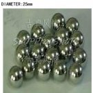free shipping 5 pcs Dia/Diameter 25 mm bearing balls Carbon steel bearings ball in stock