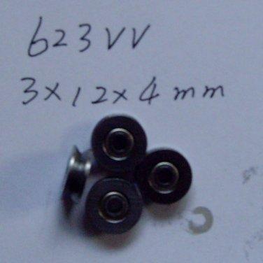 10pcs 3mm V Groove Sealed Ball Bearings 0.118 inch vgroove bearing 623VV 3*12*4
