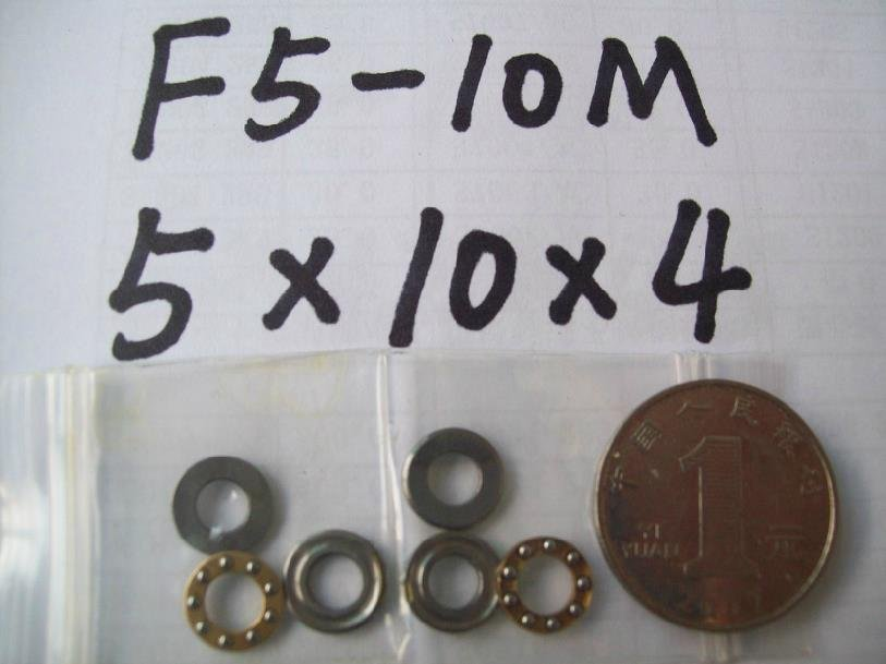 1pcs 5 x 10 x 4 mm F5-10M Axial Ball Thrust quality Bearing 3-Parts 5*10*4 ABEC1