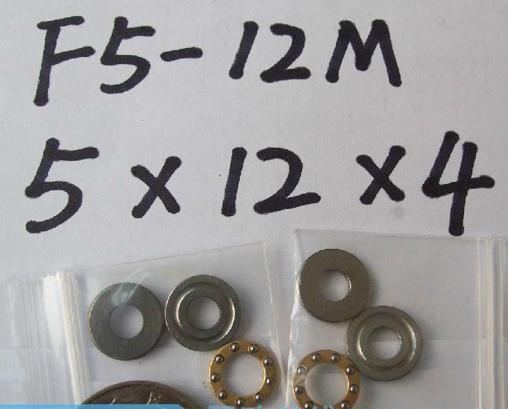 10pcs 5 x 12 x 4 mm F5-12M Axial Ball Thrust quality Bearing 3-Parts 5*12*4 ABEC1
