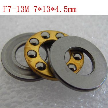 10pcs 7 x 13 x 4.5 mm F7-13M Axial Ball Thrust quality Bearing 3-Parts 7*13*4.5
