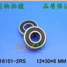 2 pcs 16101-2RS Deep Groove Ball Bearing 12x30x8 12*30*8 mm bearings 16101RS
