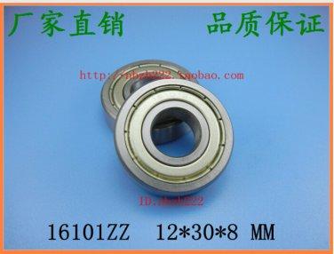 2 pcs 16101-2ZZ Deep Groove Ball Bearing 12x30x8 12*30*8 mm bearings 16101ZZ