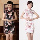 chinese qipao china painting short sleeve Imitation silk dress 140434 Cheongsam