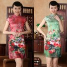 Chinese clothing Asian short Printing clothes silk-like dress qipao 140428 gown