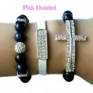 Royal Blue Shimmery Sandstone Rhinestone Encrusted Cross Arm Candy Set